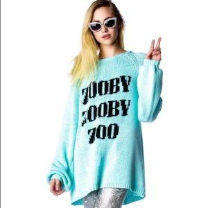 NEW Wildfox Zooby Zoo California Dream Sweater